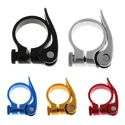 MTB Road Bike Bicycle Seat Post Saddle Clamps Clamp Quick Release 31.8mm/34.9mm