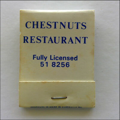 Chestnuts Restaurant Fully Licensed 34 Punt Rd Windsor 518256 Matchbook (MK46)