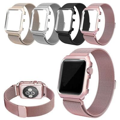 For Apple Watch 1/2/3/4 Magnetic Milanese Loop iWatch Band Strap Sport With Case