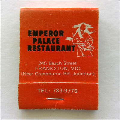Emperor Palace Restaurant 245 Beach St Frankston 7839776 Matchbook (MK46)
