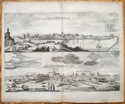 Olearius Original Large Print Narva Estonia - 1656