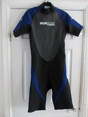 Adult Men's Large 2mm Blue Rush shortie wetsuit