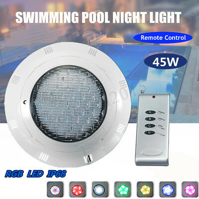 45W Swimming Pool Light RGB LED 7 Color Fountain Underwater Lamp Remote Control