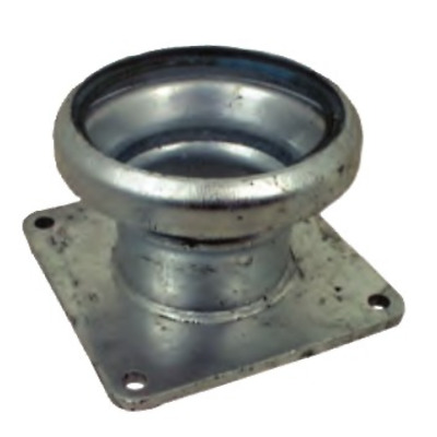 """Female Coupling with square flange 4"""" slurry/water/waste fittings"""