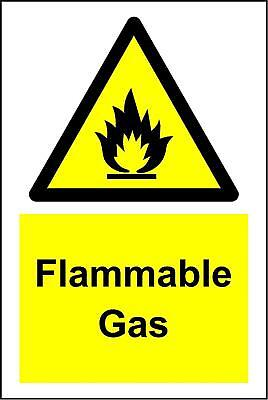 Warning Flammable gas safety sign