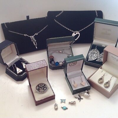 collection,job lot of quality silver jewellery