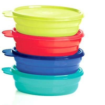 Tupperware Microwave Reheatable Cereal Bowls w/ Seals - Brand New