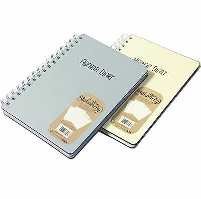 A5 Wiro Diary Open Agenda Personal Planner Organiser Things to Do Monthly Review