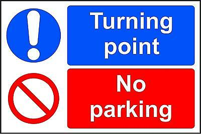 Turning point No Parking sign