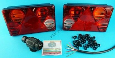 Trailer Lighting Kit with 8 Pin Plug - 10m of 8 Core Cable - Reverse Lamp