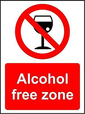 Alcohol Free zone sign