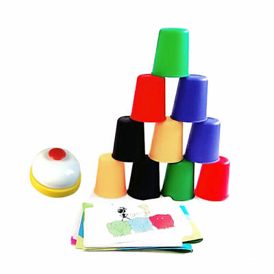 Quick Speed Table Ring 24 Cards 20 Cups Stacking Game Interactive Kids Child Toy