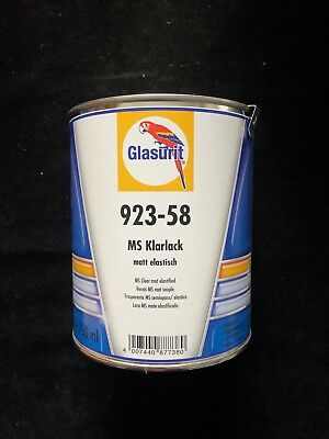 Glasurit Klarlack matt elastisch 923-58 , 0.75 Liter