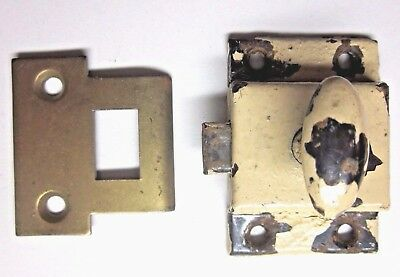 Antique Shabby Transom Window Cabinet Door Thumb Turn Latch W/ Spring Action