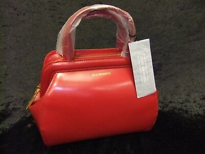 da9697ed49 LULU GUINNESS - Small Paula Polished Leather Shoulder Handbag Red + Dust Bag