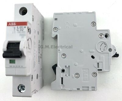 Abb 32 Amp Type C 32A Single Pole / Phase Breaker Mcb System Pro M Compact S201M