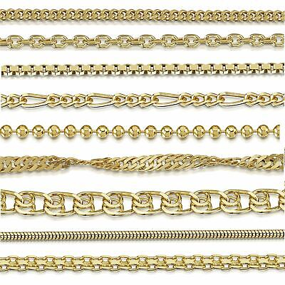 Amberta Jewelry Gold Plated on Real 925 Sterling Silver Necklace Chain Italy