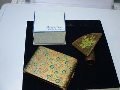 Vintage Compact (Zenette), Lipstick Case With Mirror & Box Of Powder