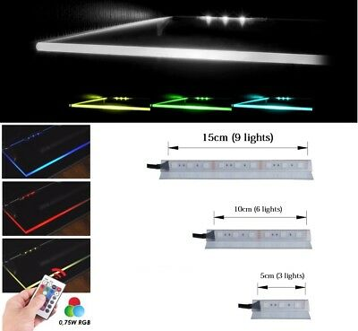 RGB lights LED Glass Shelf Clip Cupboard Shelves Stripe backlight Clips Lighting