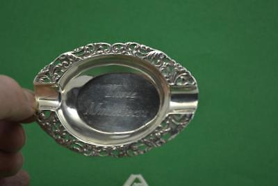 German Silver Ashtray THREE MUSKETEERS  9.5 x 6 cm wide Flower decoration 36 gr