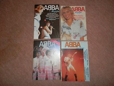 4 x Abba magazines numbers 21 22 27 31 1980s