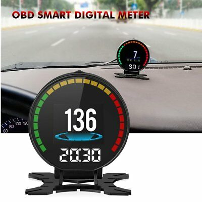 New Digital Speed Car Monitor Head-up Display OBD2 Connector Terminal Auto Kit F