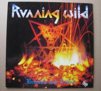 LP GER METAL RUNNING WILD Branded and Exiled 2. Album 1985 GER NOISE RECORDS