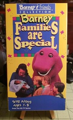 BARNEY & FRIENDS Collection Barney Families Are Special VHS