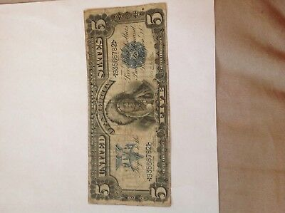 1899 $5 Silver Certificate ~ Indian Chief