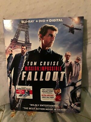 Mission: Impossible Fallout (Blu-ray + DVD + Digital) Tom Cruise Brand New