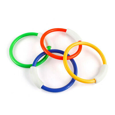 4pcs Toy Rings Swimming Creative PVC Portable Functional Pool Toy Rings for Kids