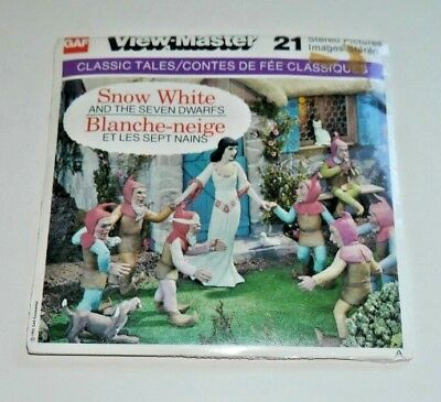 * Sealed * Snow White & The Seven Dwarfs Viewmaster Reels B300 C French   D052