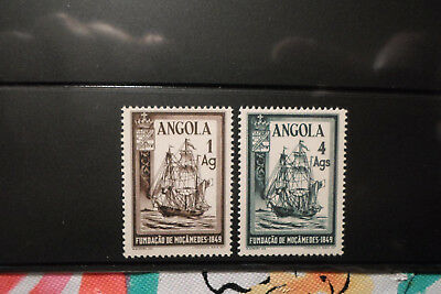 Angola, Sc#'s 325-326 Century Of Founding Of Mocamedes, Mnh Issued In 1949.