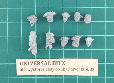 Warhammer AOS Empire Free Peoples Freeguild Heads Mixed x 10 A P1 A