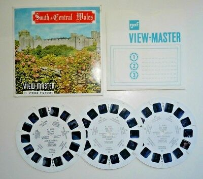 SOUTH & CENTRAL WALES VIEWMASTER REELS SET C335 1960's SAWYER'S RARE  D054