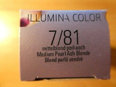 Wella Illumina Color  7/81 mittelblond perl-asch Creme-Coloration Haarfarbe 60ml