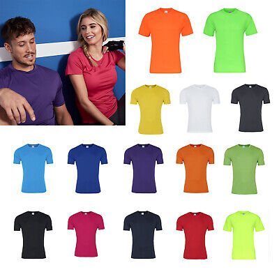 3 Or 5 Pack AWDis Kids Cool Smooth Polyester T-Shirt Short Sleeve Casual Tee New