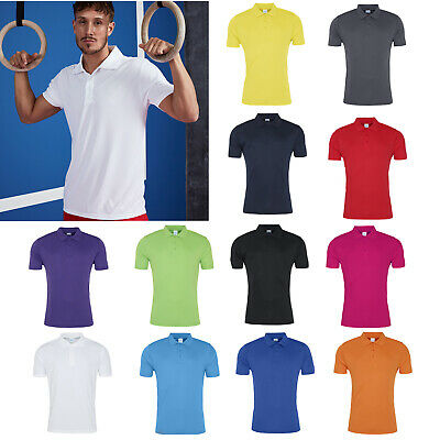 AWDis Just Cool Mens Stand Collar Sports Polo RW6556