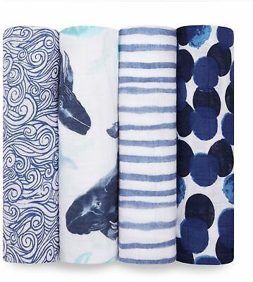 Aden + Anais CLASSIC SWADDLES - 4-PACK - SEAFARING  Baby BNIP