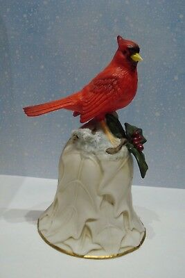 """Avon Porcelain Collector's Bell~ Second in Series-""""2000"""" Red Cardinal Valentines"""