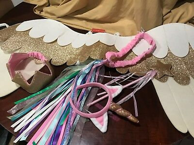 Huge Lot Hanna Andersson Girl's Unicorn And Accessories Play Dress Up