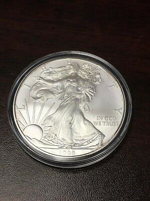 2008 W Burnished American Silver Eagle Coin Only #2