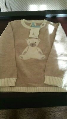 Girls Jumper With Teddy On The Front 12-18 Months BNWT