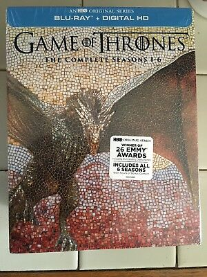 Game of Thrones: The Complete Seasons 1 2 3 4 5 6 Blu-ray & Digital  New HBO