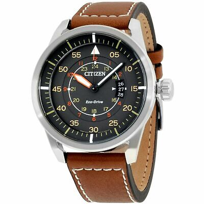 Citizen AW1361-10H Men's Avion Grey Eco-Drive Watch