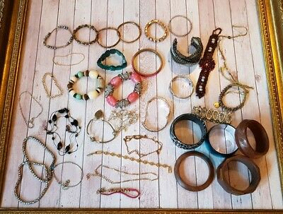 Large Job Lot Of Vintage & Modern Costume jewellery Finding clearance