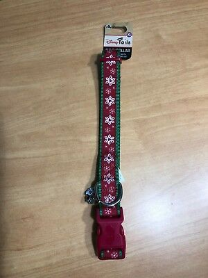 Disney Parks 2018 Holiday Red Minnie Mouse Snowflake Dog Collar DISNEY TAILS