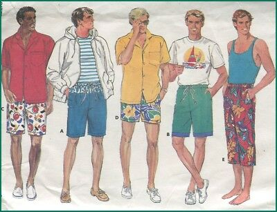 1980s Vintage Surfer Shorts Jams Clam Digger Pants Mens Waist  24-26 28-30 32-34