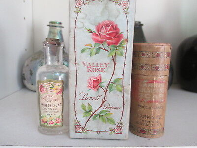 Label Perfume Bottle, Perfume Box for Valley Rose and Larkin Shaving Soap Contai