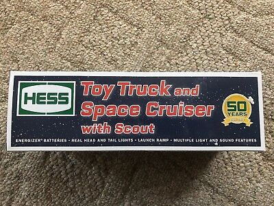 HESS 2014 50th Anniversary Toy Truck And Space Cruiser With Scout